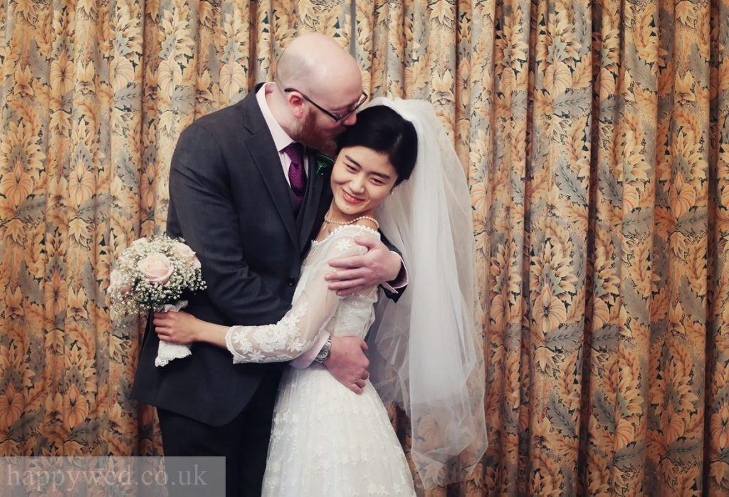 bride and groom portrait at manor parc hotel Cardiff