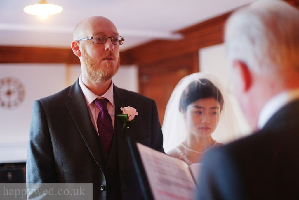marriage ceremony at manor parc hotel Cardiff