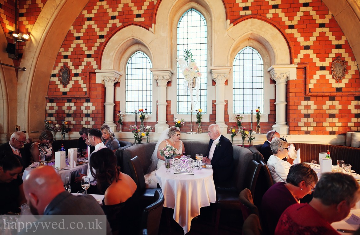 Wedding reception at Chapel 1877 Cardiff