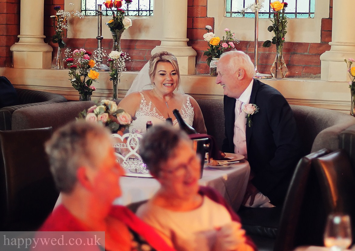 Wedding breakfast at Chapel 1877 Cardiff