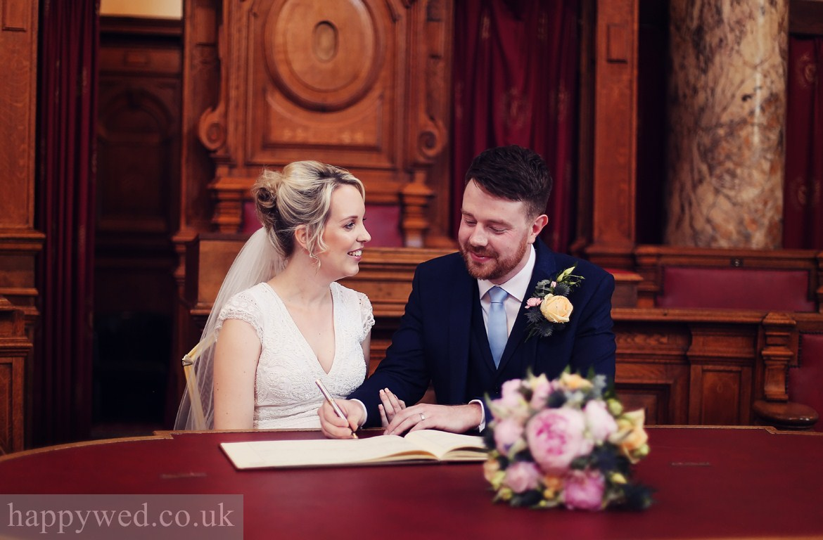 Council Chamber Cardiff wedding ceremony