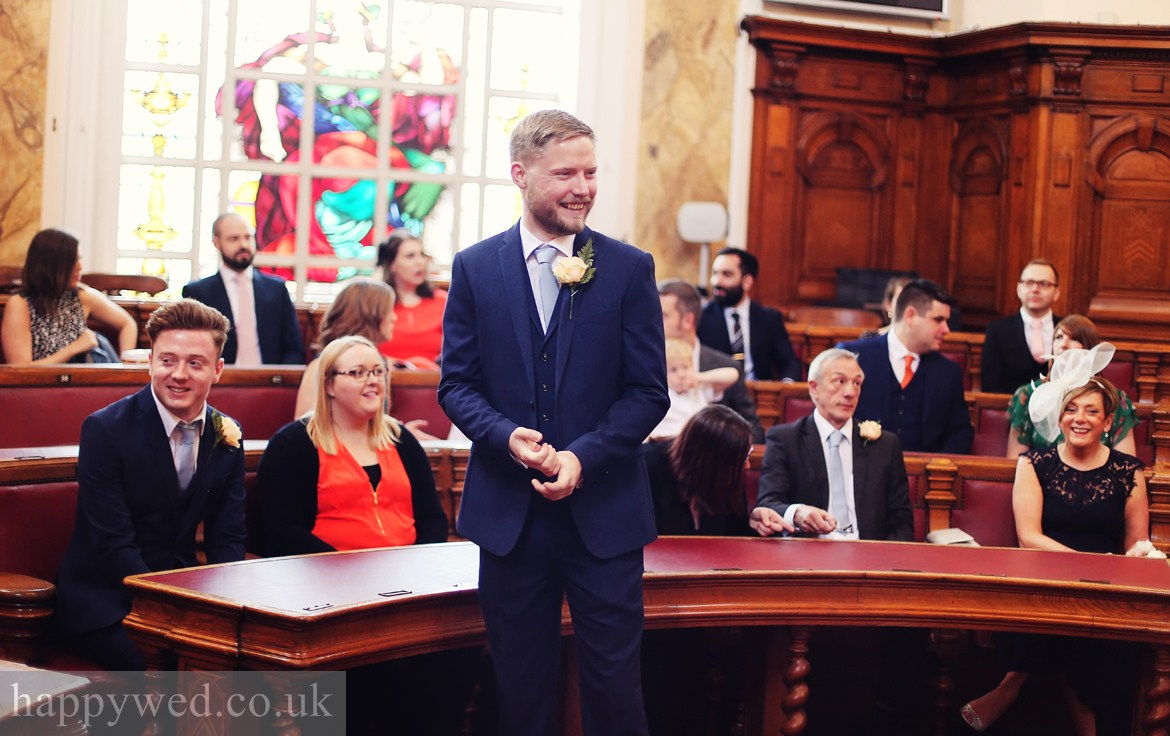 Council Chamber Cardiff wedding photographs