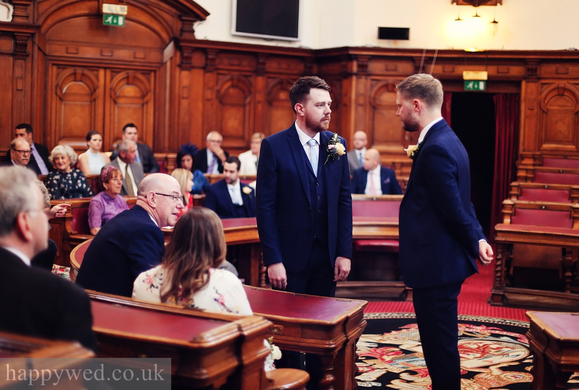 weddings at Council Chamber in Cardiff City Hall