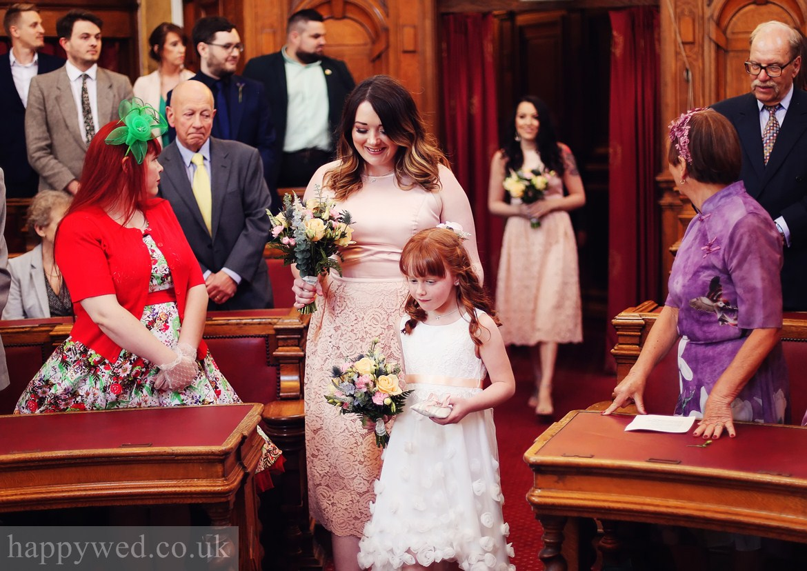 photos council chamber cardiff wedding