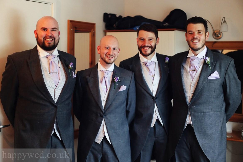 groom getting ready Glyn Clydach Hotel