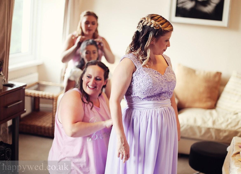 wedding getting ready at Glyn Clydach Hotel