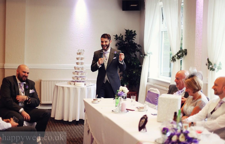 wedding breakfast at Glyn Clydach Hotel