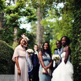 wedding photography at USK castle
