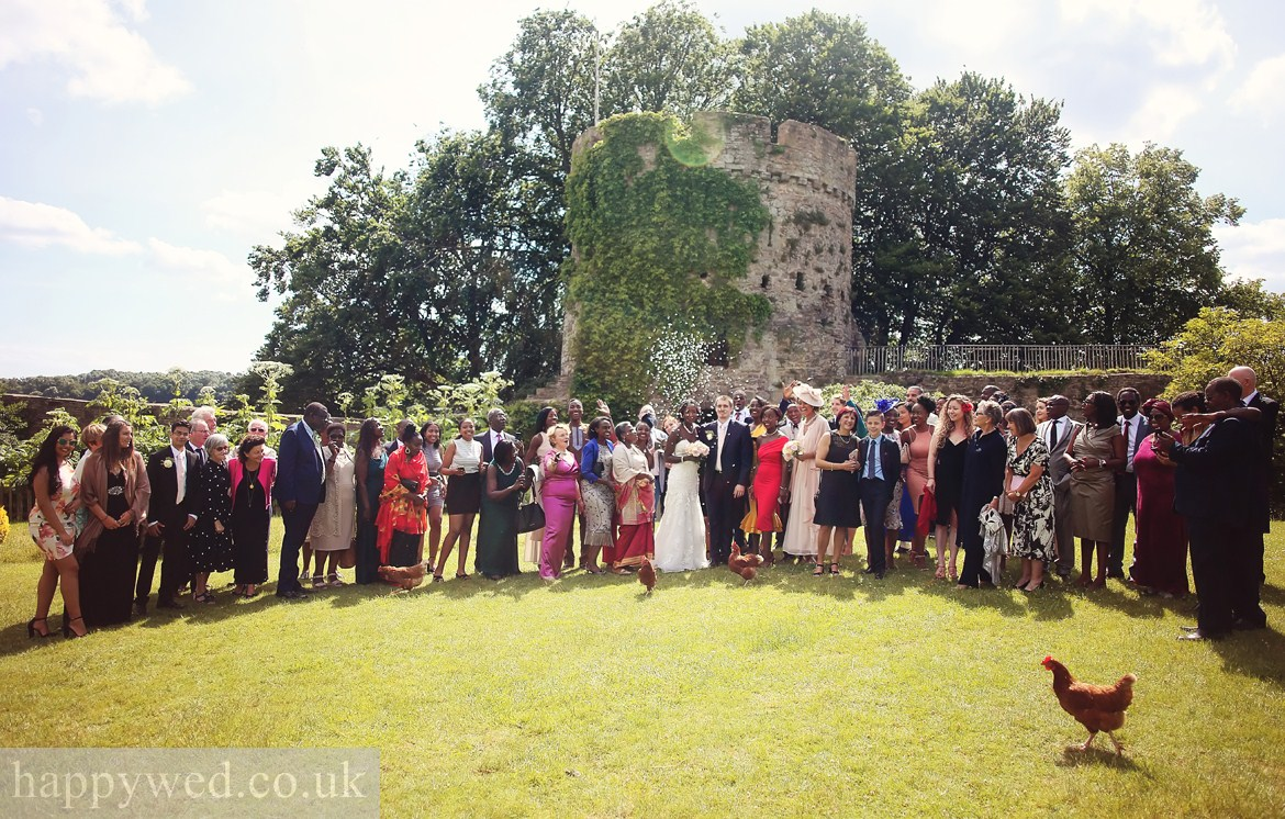 wedding photography at USK castle