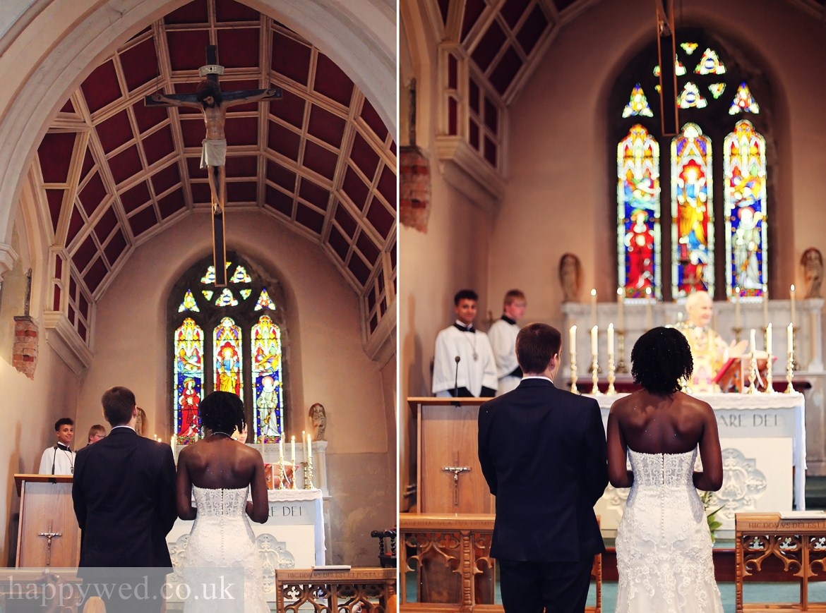 wedding at St Francis Xavier and St David Lewis Church