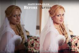 Before and after retouching wedding photography Cardiff South wales and Bristol