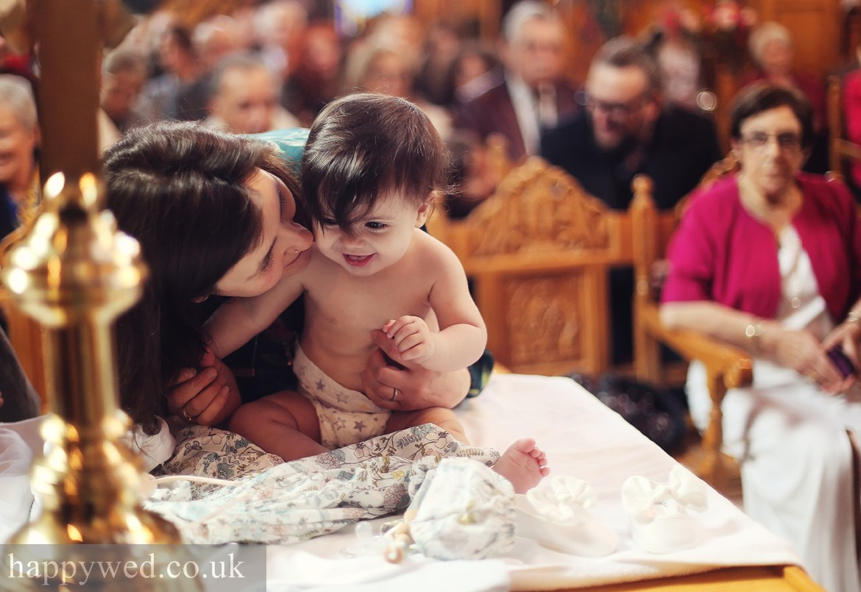 Christening photography greek orthodox church Cardiff