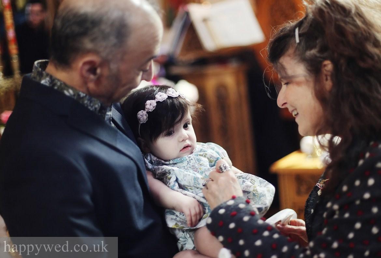 Baptism photography greek church Cardiff