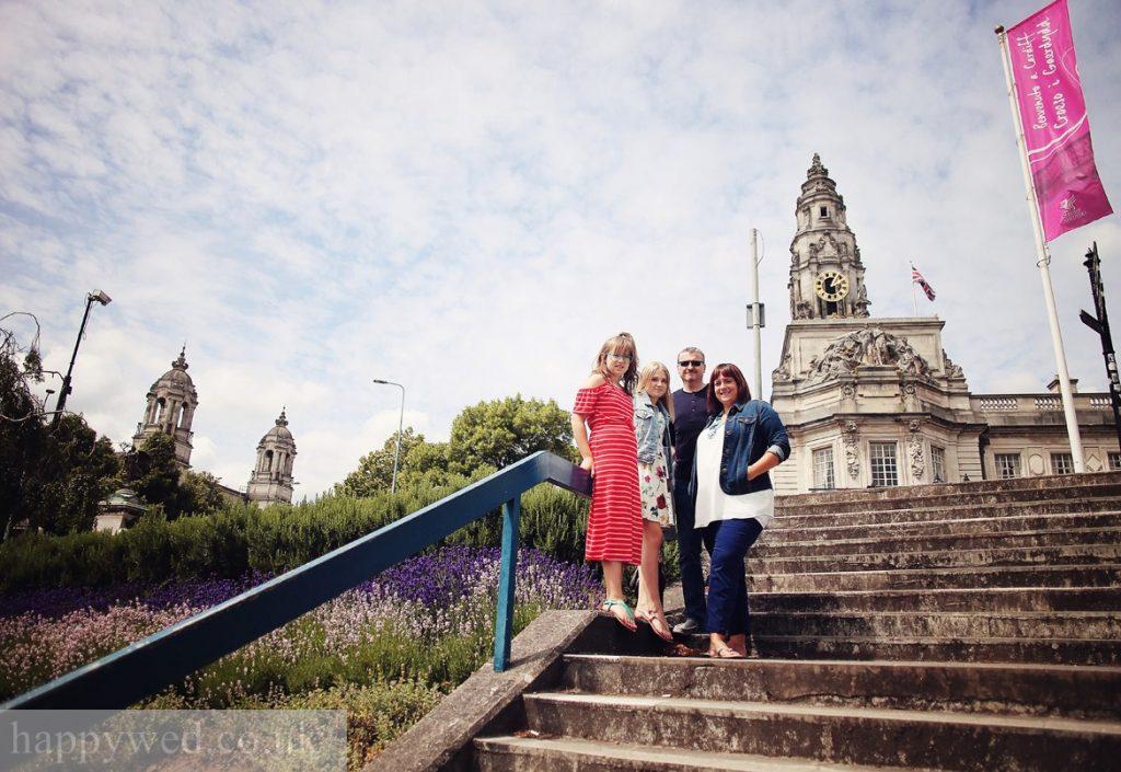 Cardiff City hall family photography