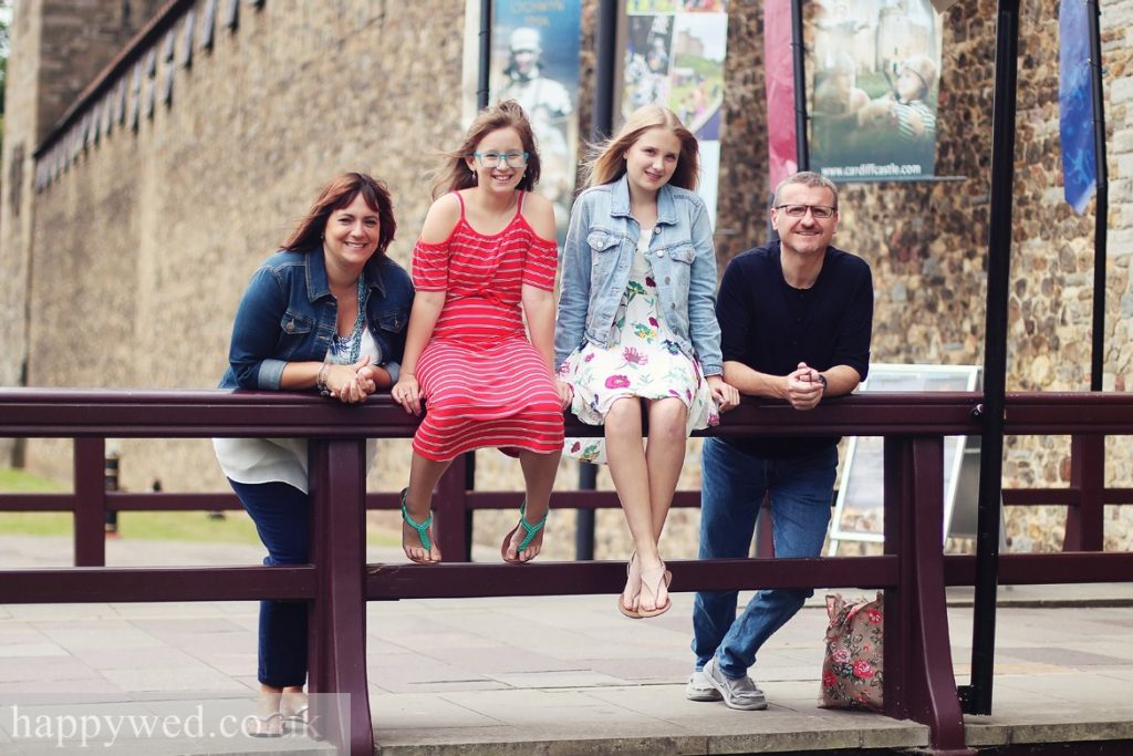Cardiff castle family photography
