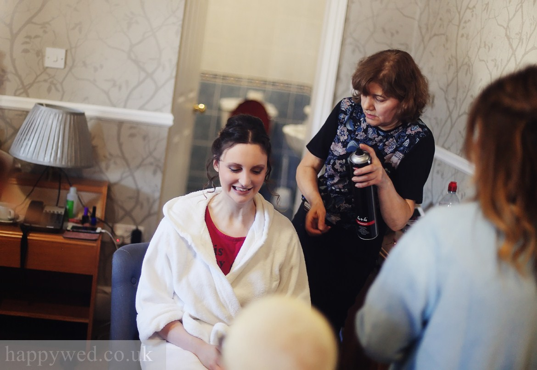 wedding photography at Llechwen Hall Hotel