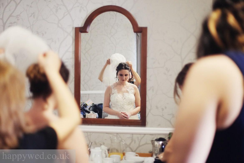 Bridal preparations at Llechwen Hall Hotel Pontypridd