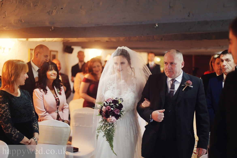 wedding ceremony at Llechwen Hall Hotel Pontypridd