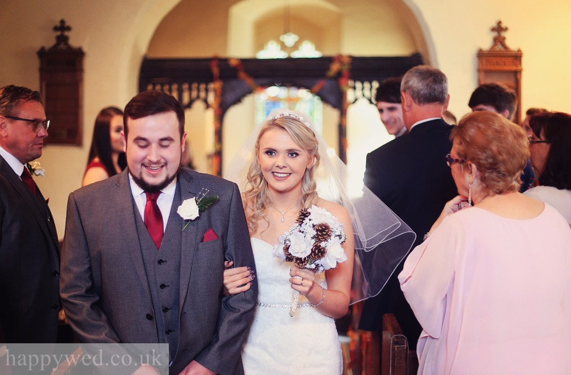 wedding photographs at St Curigs Church Porthkerry