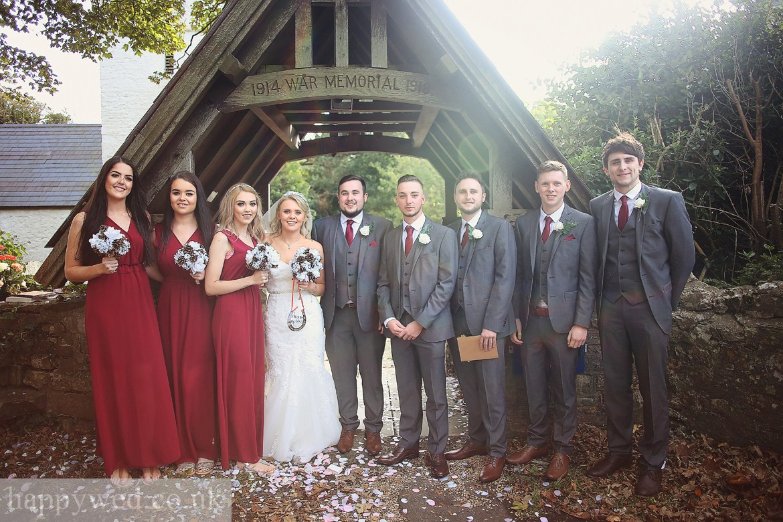 St Curigs Church Porthkerry wedding photos