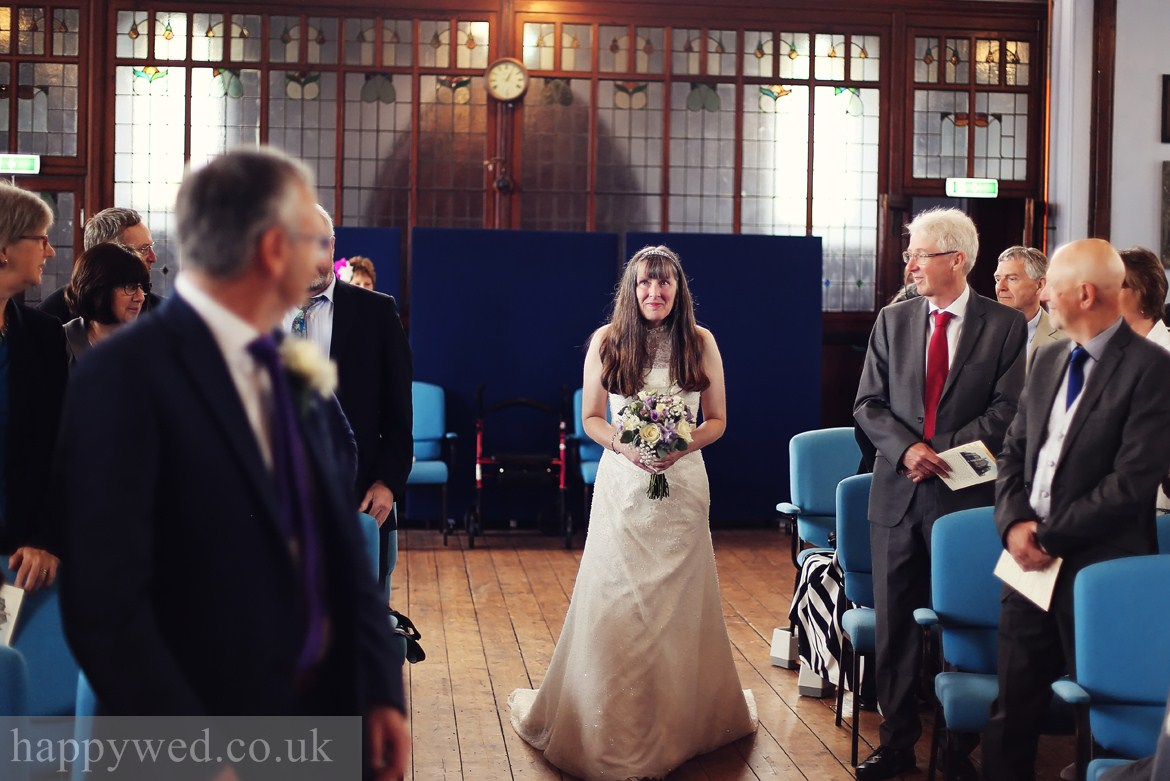 wedding ceremony at Caerphilly URC Church photo