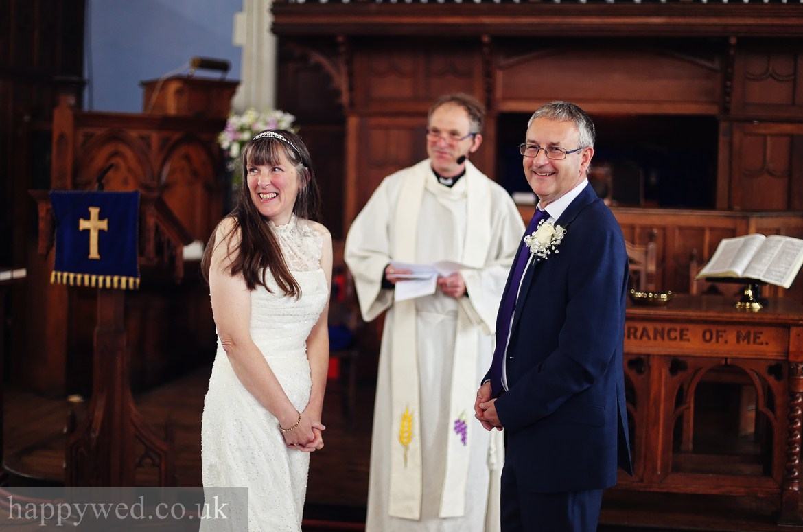wedding ceremony at Caerphilly URC Church photography