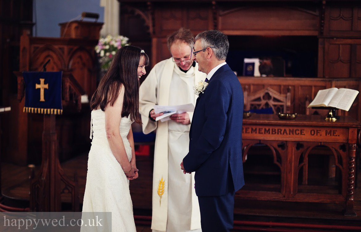 wedding ceremony at Caerphilly URC Church photos