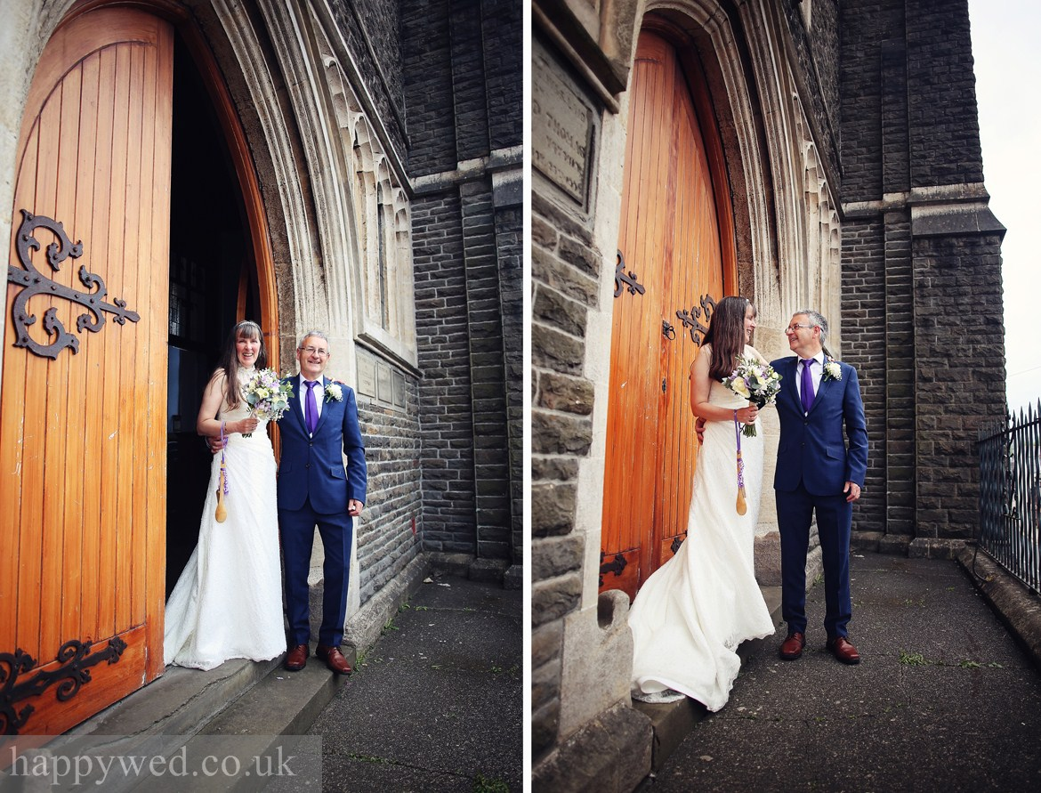 Van Road Caerphilly Church wedding photography