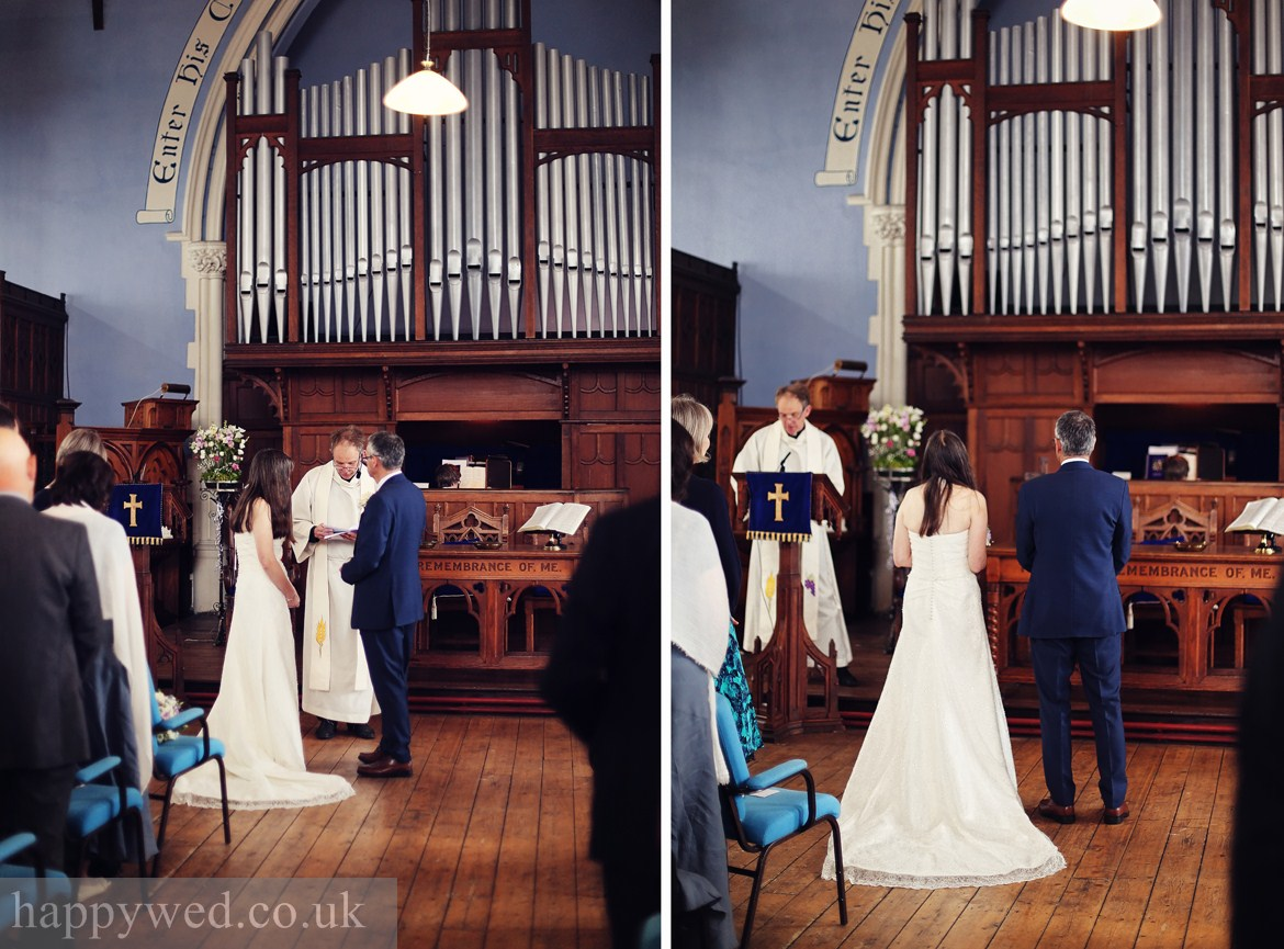 wedding photography at Caerphilly URC Church
