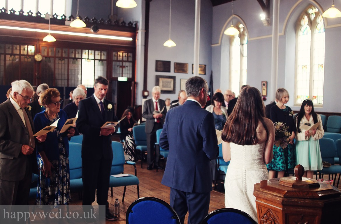 wedding photography at Van Road Caerphilly Church