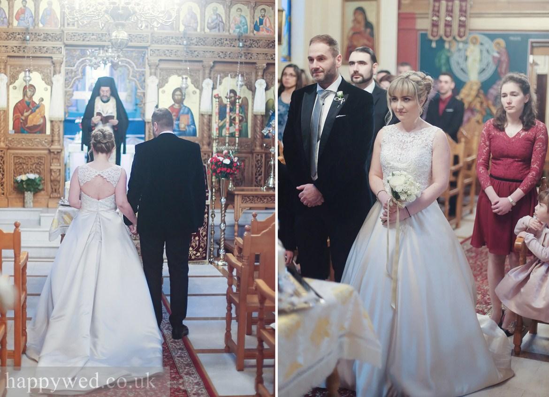 wedding at greek church of St Nicholas cardiff
