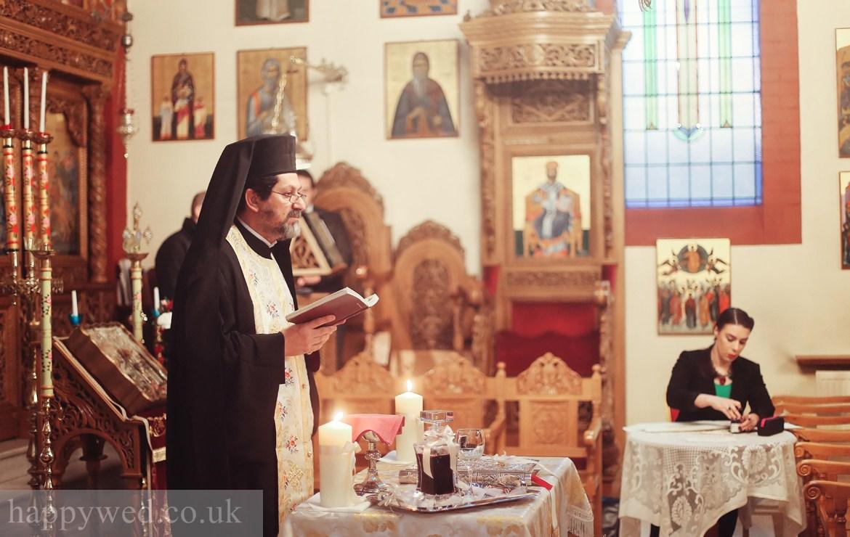 Orthodox wedding at greek church of St Nicholas