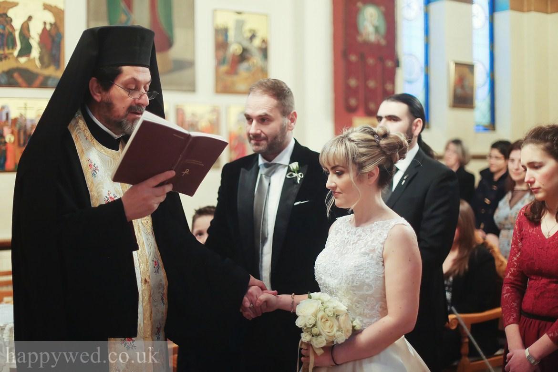 Orthodox wedding ceremony at greek church of St. Nicholas