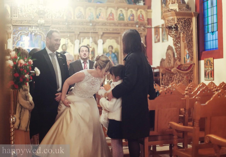 Orthodox wedding at greek church of St Nicholas cardiff