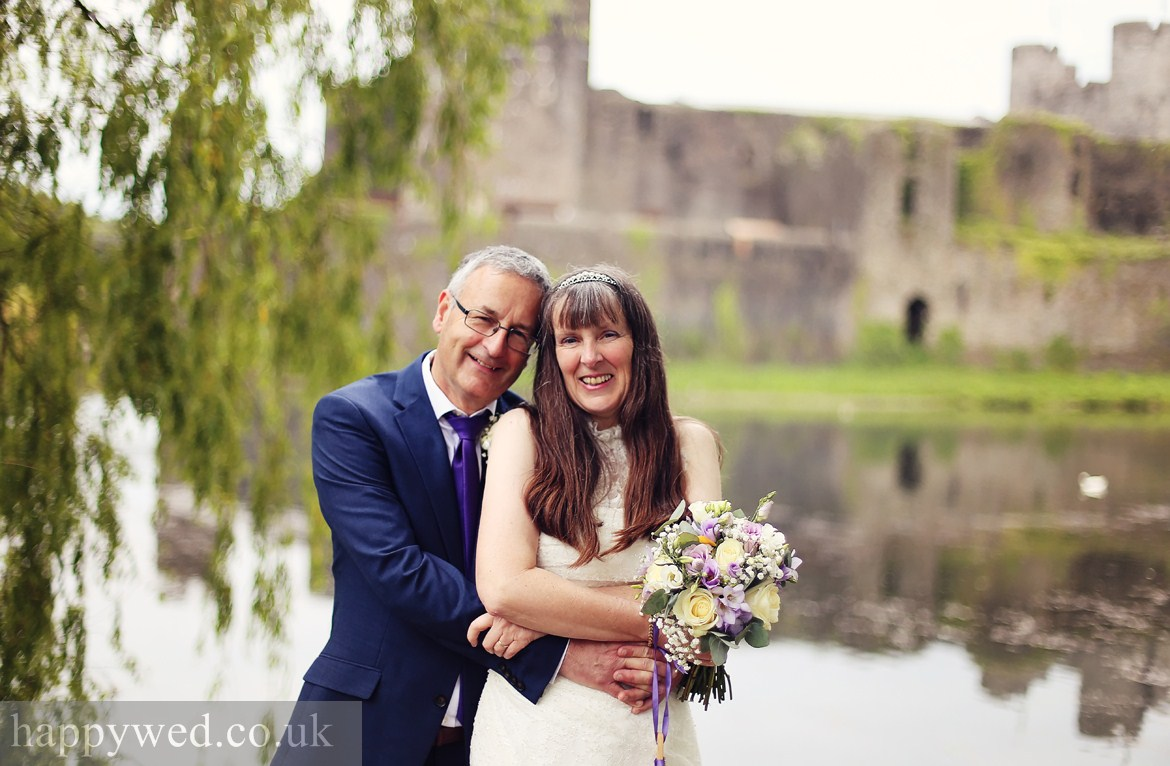wedding photographer Caerphilly Castle