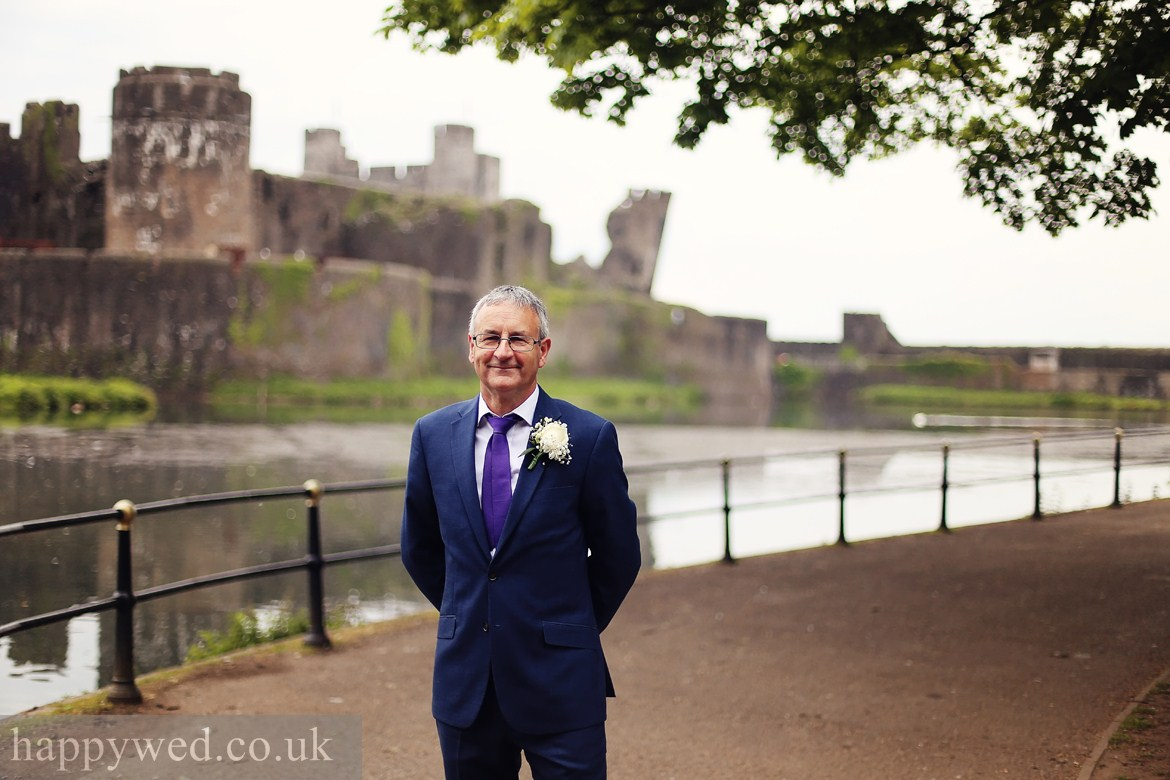Caerphilly Castle wedding photos