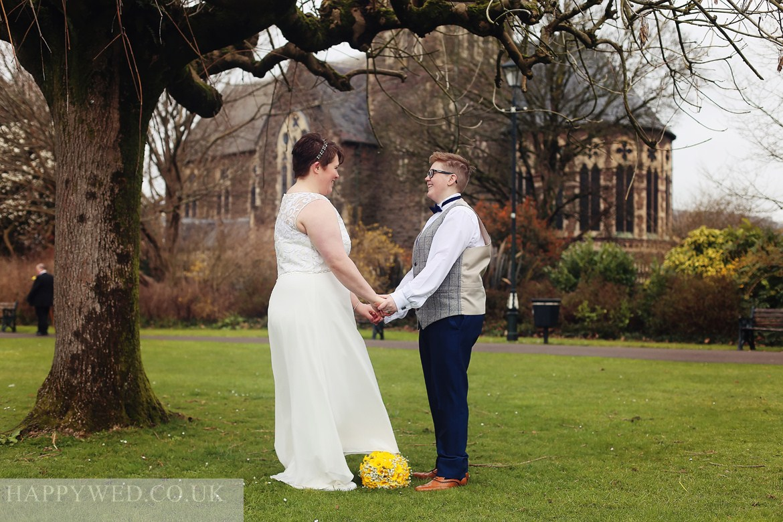 Neath Victoria Park wedding photo