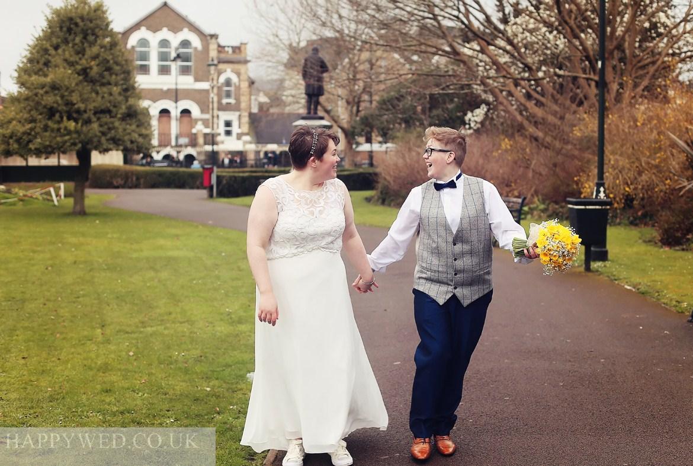 Wedding photography at Neath Victoria Park