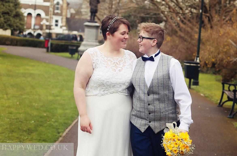 same sex wedding photographer Neath