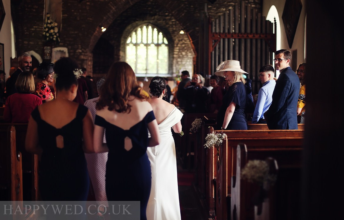 St Michael All Angels Lower Machen wedding photo