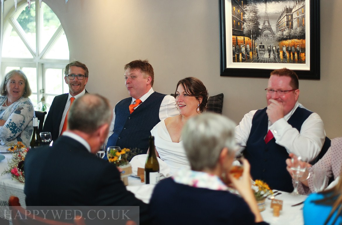 The Hollybush Inn Draethen wedding reception