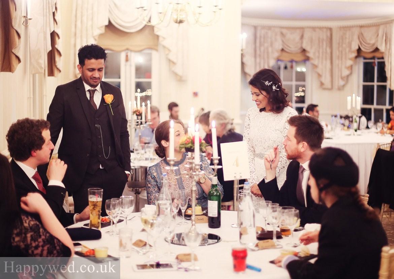wedding reception at De Courceys Manor