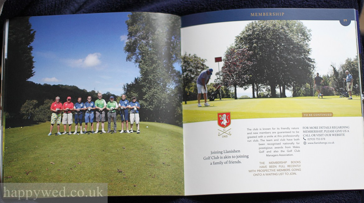 llanishen golf club annual brochure photo