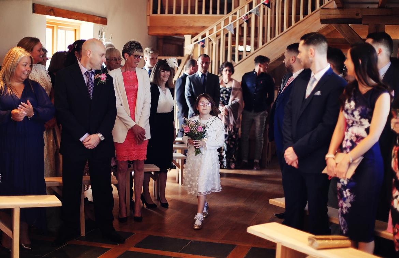 wedding ceremony at caerhyn farm carmarthen photos