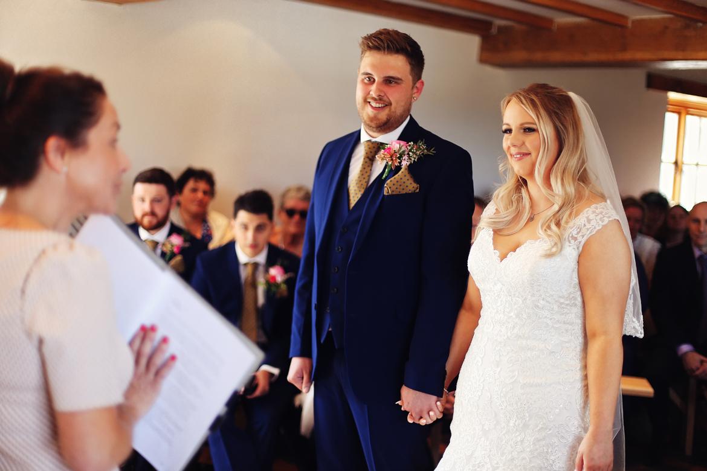 wedding ceremony caerhyn farm photos