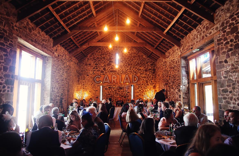 wedding meal caerhyn farm photos