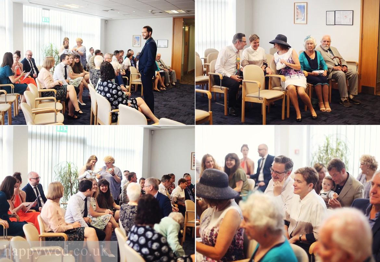 Ceredigion Register Office wedding ceremony photographs