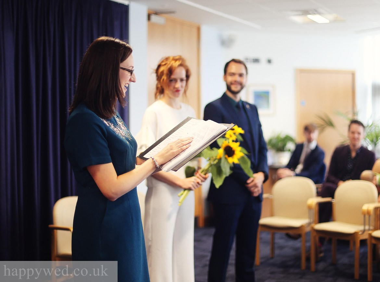Ceredigion Register Office wedding ceremony photo