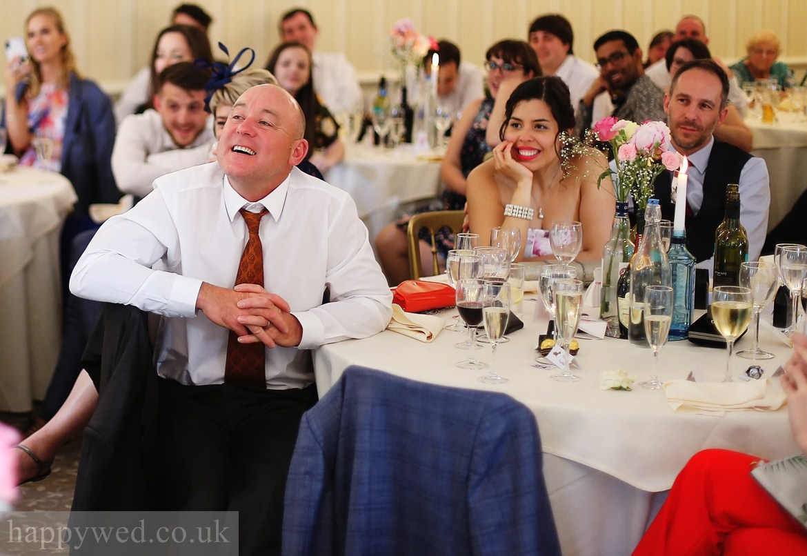 de courceys manor cardiff wedding meal photos