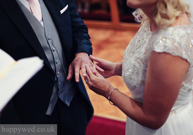 wedding at St Michael church Swansea